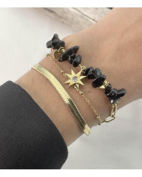 Bracelet - Pierres naturelles - Acier chirurgical - Bijoux tendance - Paloma Bijoux