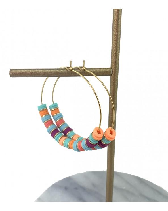 Boucles fantaisies multicolores - Paloma Bijoux