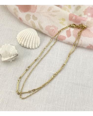 Bracelet de chevilles - acier chirurgical - bijoux femme tendance -Paloma Bijoux