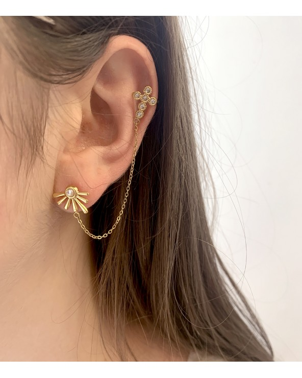 Mono boucle / faux piercing - Paloma Bijoux en acier tendance
