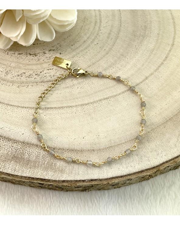 Bracelets fins perles naturelles